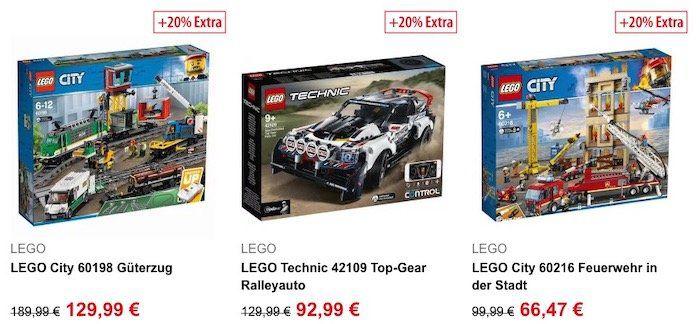 20% Extra Rabatt auf Spielzeug bei Spielemax   z.B. LEGO 42109 Ralleyauto für 70,18€ (statt 78€)