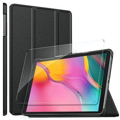 ELTD Hülle Ultra Slim mit Magnet und Displayfolie für das Samsung Galaxy Tab A 10.1 für 6,99€(statt 14€)
