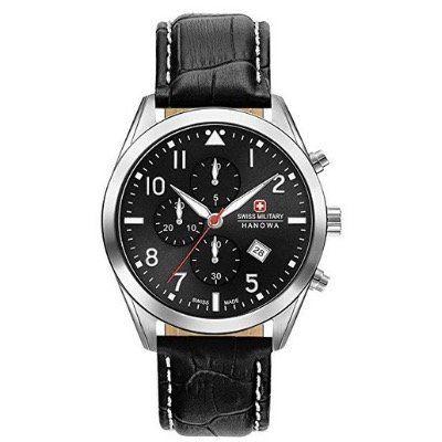 Swiss Military Chronographen Hanowa Helvetus aus Edelstahl in Schwarz für 171,26€ (statt 224€)