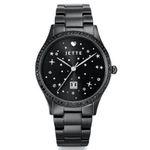 Jette Joop Damen-Quarzuhr Time mit Kristallen in Schwarz für 63,78€ (statt 80€)