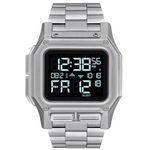 Nixon Herrenuhr Digitaluhr Regulus in Silber aus Edelstahl für 140€ (statt 207€)