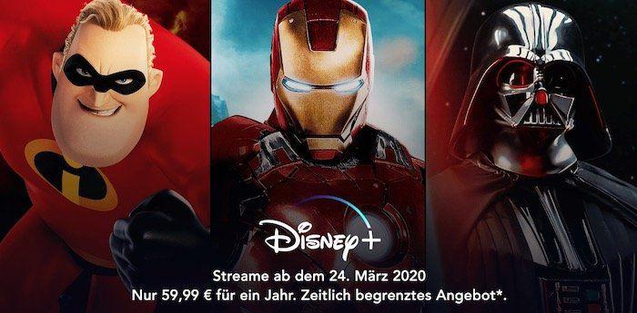 Endet heute: Disney+ Streamingdienst Frühbucher Preis für 59,99€/Jahr (bis 4 Geräte!)
