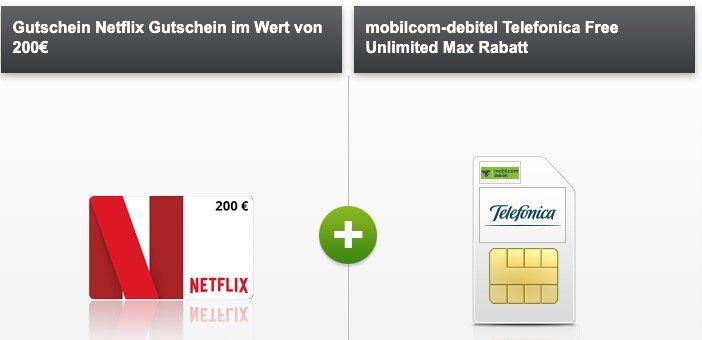 o2 Flat mit unlimited LTE für 34,99€ + 200€ Netflix Gutschein