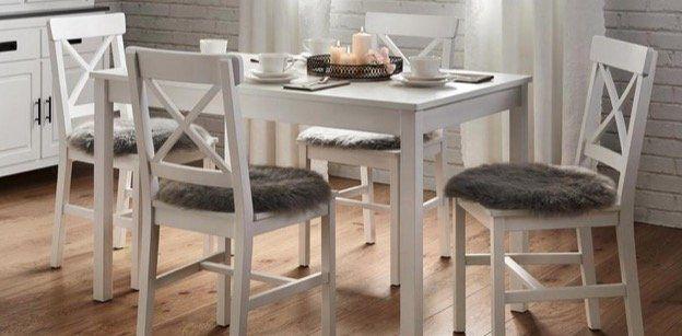 Bessagi Home 5 teilige Landhausstil Esszimmer Tischgruppe Amira für 126,20€ (statt 159€)