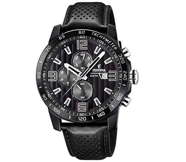 Festina F20339/6 Herren Chronograph mit Leder Armband für 95€ (statt 117€)