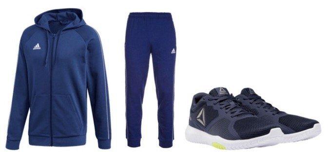 Jogginganzug Core 18 + Reebok Schuh Flexagon Force für 64,95€ (statt 90€)