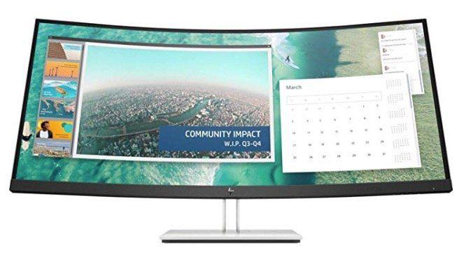 HP E344c   34 Zoll curved WQHD Monitor mit USB C für 599€ (statt 704€)