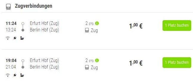 Flixtrain: Bahn Tickets ab Erfurt für 1€   verschiedene Ziele (z.B. Berlin) möglich