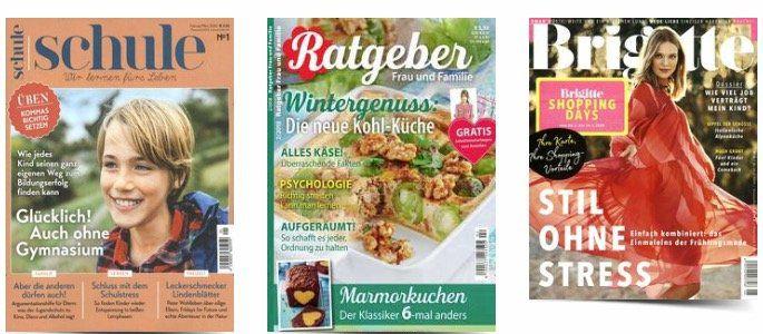 Endet um Mitternacht: 18% Rabatt auf alle Zeitschriften beim Leserservice   z.B. 27x Brigitte für 81,92€ + 80€ Gutschein