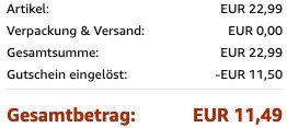 Vemingo Herren Geldbörse mit RFID Schutz und Kreditkartenetui mit Münzfach in Schwarz Orange für 11,49€ (statt 23€)