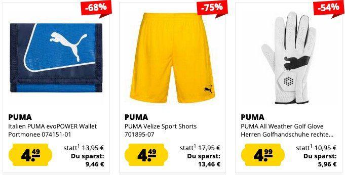 SportSpar Puma Sale mit Einzelstücken ab 0,99€   z.B. Puma Shorts ab 3,99€
