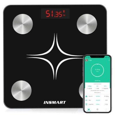 INSMART Körperfettwaage (max 180kg) mit App Anbindung für 19,99€ (statt 40€)