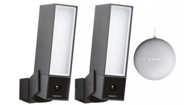 2er Pack Netatmo Presence Outdoor Sicherheitskamera mit Flutlicht + Google Home mini ab 474,95€ (statt 522€)