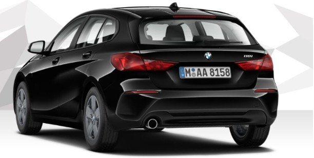 Privat und Gewerbe: BMW 118i mit 140PS in Schwarz für 175€ mtl.   LF: 0,71