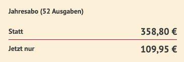 Wirtschaftswoche im Jahresabo für 109,95€ (statt 359€)