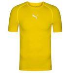 Puma TB Herren Kompressions Shirt in Gelb für 9,50€ (statt 16€) – nur M & L
