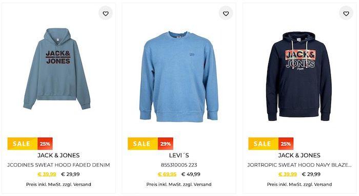 Tara M mit 30% Rabatt auf Pullover & Sweatshirts   z.B. Jack&Jones Hoody für 20,94€ (vorher 40€)