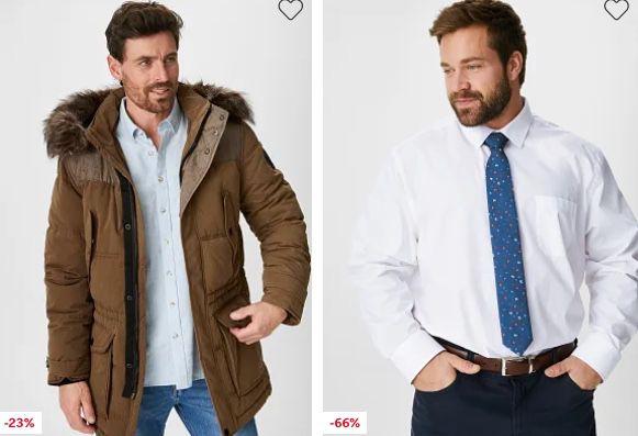 C&A Sale bis zu 70% Rabatt + 10% Gutschein + keine Versandkosten   z.B. Hemd + Krawatte nur 9,99€