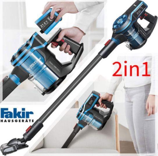 Fakir 2in1 Akku Boden  und Handstaubsauger 21,6V für 99,99€ (statt 130€)