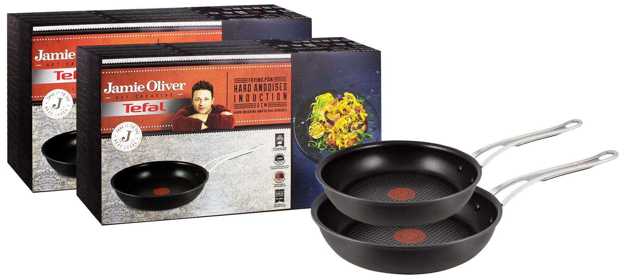 Tefal Jamie Oliver Hart eloxierte Bratpfannen 24 und 26cm für 64,90€ (statt 99€)