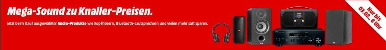 Media Markt Sound Aktion: z.B. YAMAHA  RN 402 D Netzwerk Receiver + 2 ELAC Boxen für 499€ (statt 749€)