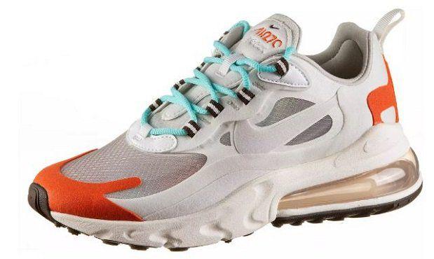 Nike Air Max 270 React Women Sneaker in Hellblau Orange für 80,71€ (statt 128€)