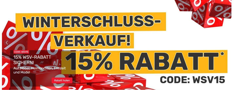 Neckermann WSV + 15% extra Rabatt auf alles ausser Technik VSK frei ab 75€ z.B. Home affaire Badmöbel Set für 254,99€ (statt 389€)