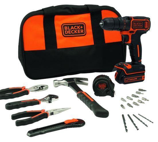 Black+Decker BDCDC18HTSA 18V Akku Bohrschrauber mit Zubehör und Tasche ab 55€ (statt 93€)