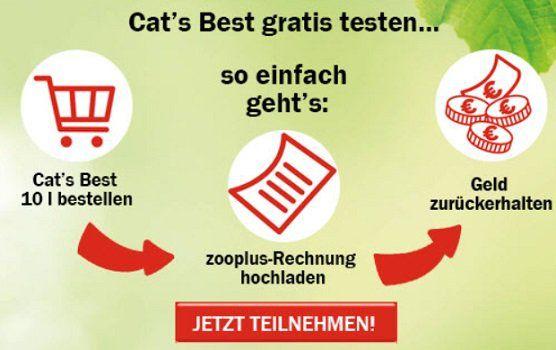 Zooplus: Cat´s Best Original Katzenstreu testen und Geld zurück holen + VSK