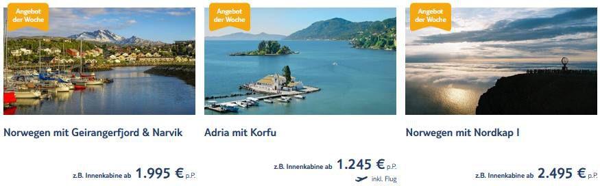Aktuelle TUI Cruises Angebote z.B. 8 Tage Adria mit Korfu inkl. Flug ab 1.245€ p.P.