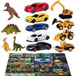 40tlg Spielzeugset bestehend aus 9 Autos, 12 Dinos, 18 Schilder & Spielteppich für 15,59€ (statt 26€)