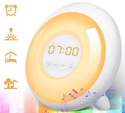 SOLMORE digitaler Lichtwecker mit 5 Wecktöne & vielen Funktionen für 15,59€    Prime