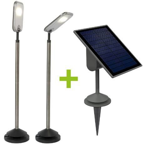 2x LUTEC SUN CONNEC LED Außen Solarleuchten + Solarpanel für 39,89€ (statt 126€)