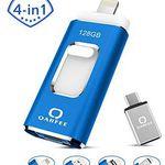 4in1 128GB USB 3.0 Stick mit USB, Lightning, Micro USB & Type-C für 27,49€ (statt 50€)
