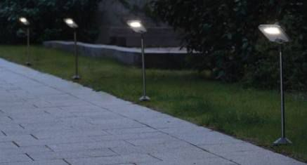 TOP! 2x LUTEC SUN CONNEC LED Außen Solarleuchten + Solarpanel für 32,39€ (statt 125€)