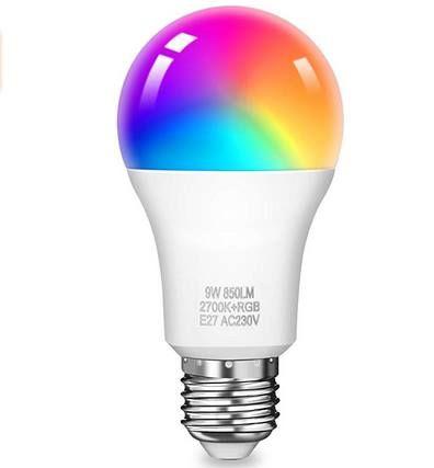 KINGSO WLAN LED RGB Glühbirne mit Alexa, Google Home & IFTTT Support für 9,79€ (statt 14€)