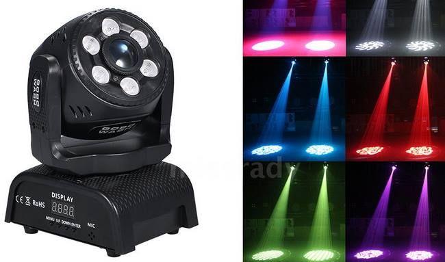 100W RGBW LED Bühnenlicht mit 8 Effekte & mehr für 89,38€   aus DE
