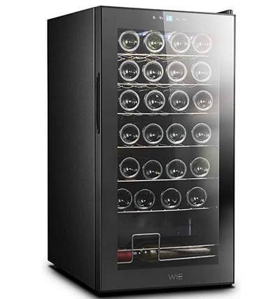 Weinkühlschrank (84cm) für 28 Flaschen & mit LED Bleuchtung für 219,99€ (statt 270€)