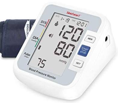 Digitales Oberarm Blutdruckmessgerät mit Sprachfunktion für 18,95€ (statt 28€)