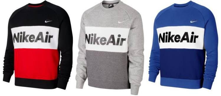 Nike Air Fleece Crew Pullover in 3 Farben für je 42,22€ (statt 65€)