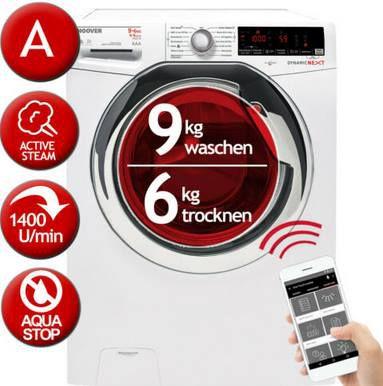 HOOVER WDXOA Waschtrockner mit 9kg (Trocknen 6kg) mit App Anbindung für 350,91€ (statt 429€)