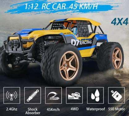 Wltoys XK 12402 A 1:12 RC Car mit 4x4 Antrieb & Fernbedienung für 68,99€   aus DE