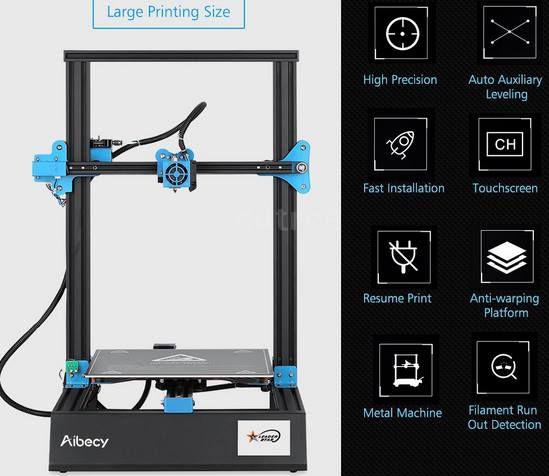 Aibecy M18 Pro 3D Drucker (300*300*400) für 215,99€   aus DE