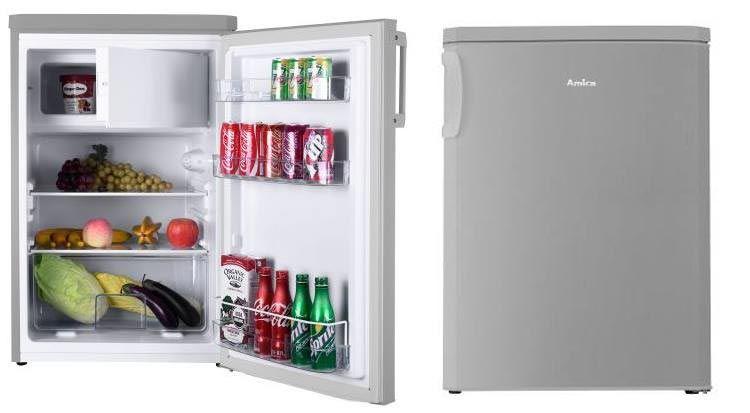 Amica KS 361 110 E Kühlschrank mit Gefrierfach (Edelstahl Optik, A++) für 185€ (statt 213€)