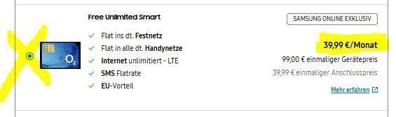Samsung S20 für 99€ o. S20 Plus für 189€ + O2 Allnet Flat + 60GB LTE für 39,99€ mtl. + gratis Galaxy Buds