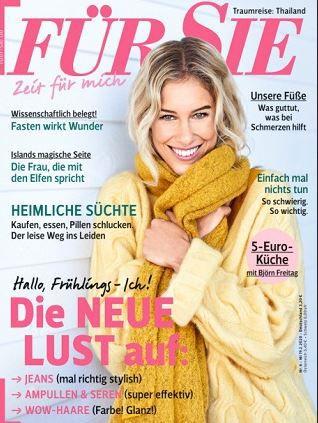 FÜR SIE Jahresabo (24 Ausgaben) für 81,40€ + 80€ Bestchoice Gutschein