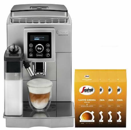 DeLonghi ECAM 23.466.S Kaffeevollautomat + 4kg SEGAFREDO Caffe Crema für 404,10€ (statt 530€)
