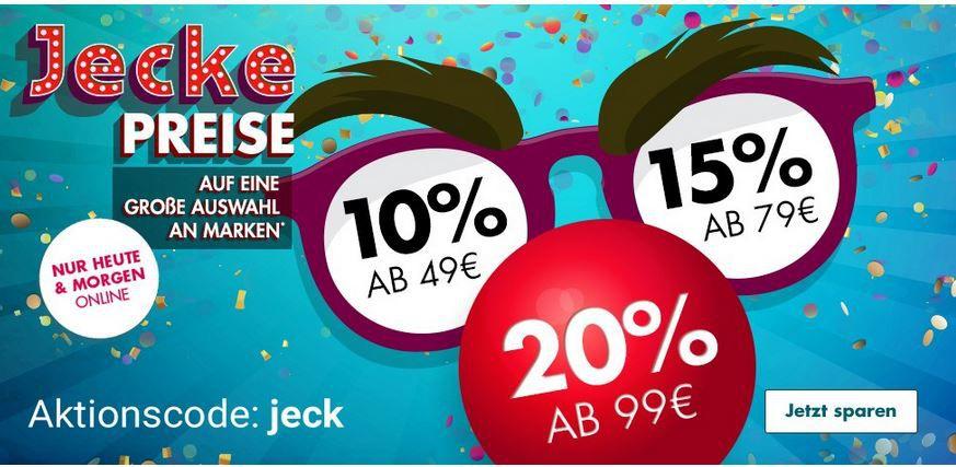 Galeria Jecke Preise mit Staffel Rabatt bis 20% auf viele Artikel