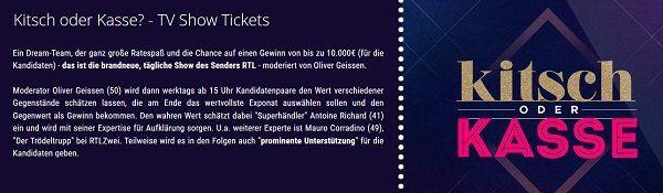 Freikarten für die Show Kitsch oder Kasse? in Köln