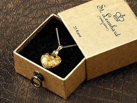Pearl: St. Leonhard Glas Herzanhänger inkl. vergoldeter Kette gratis (statt ca. 17€) + 5,95 VSK